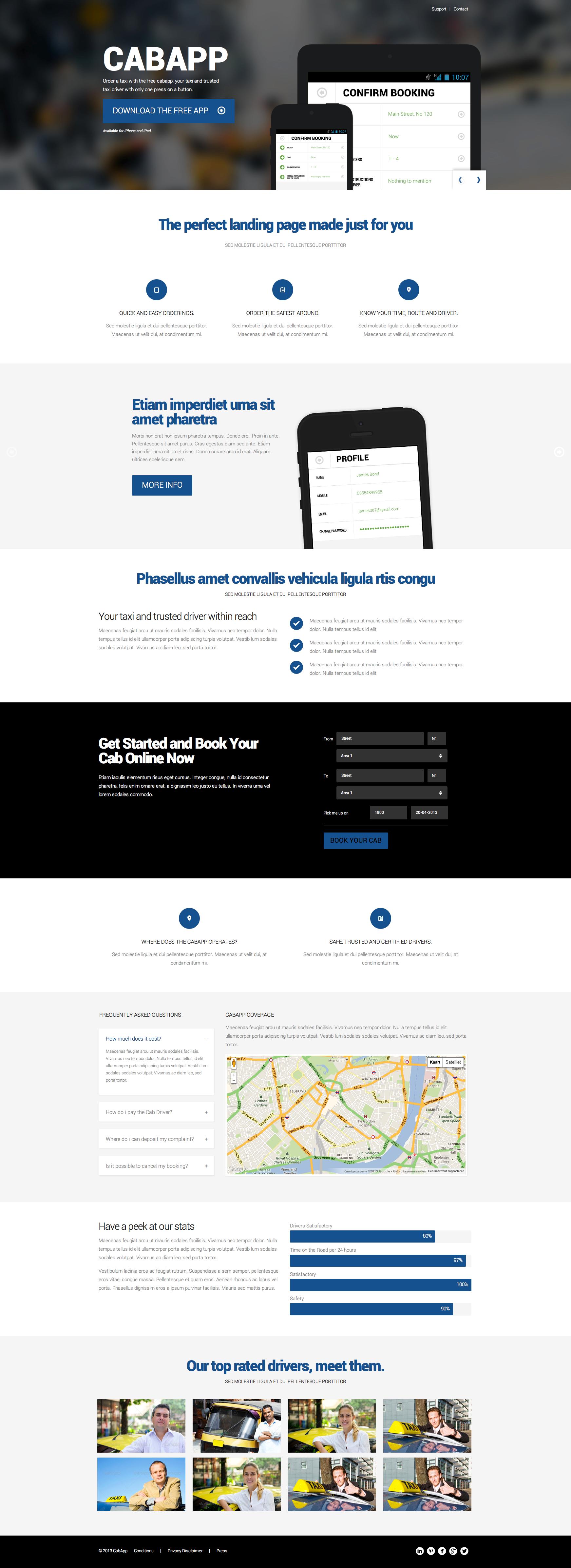 CabApp - Responsive Versatile Landing Page