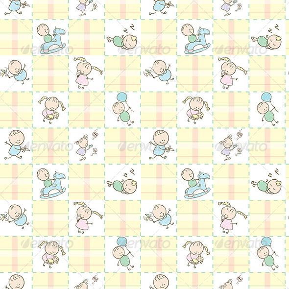 GraphicRiver Baby Seamless Wallpaper 5155176