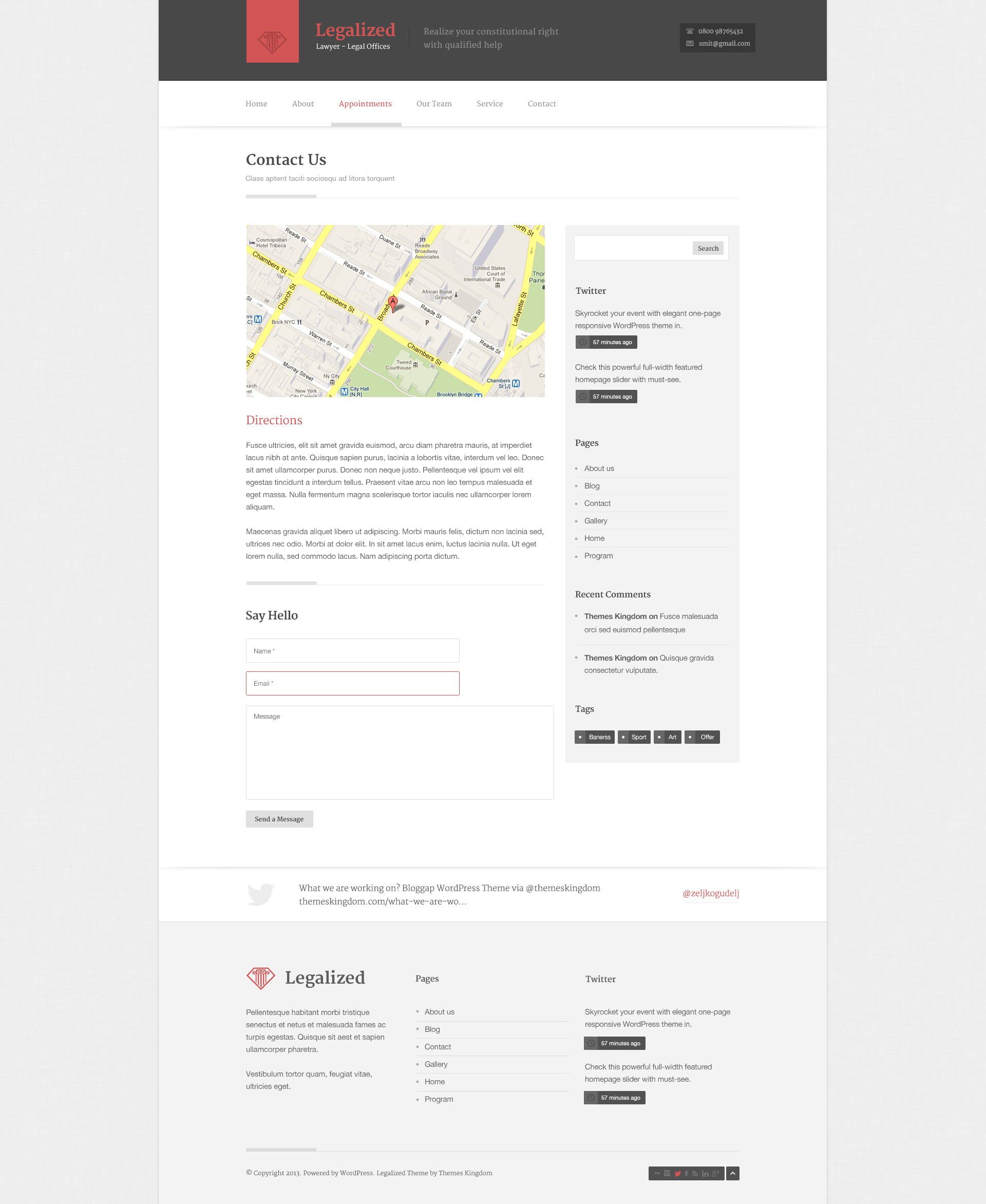 Legalized - Modern Business WordPress Theme