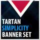 Tartan Simplicity Banner Set - GraphicRiver Item for Sale
