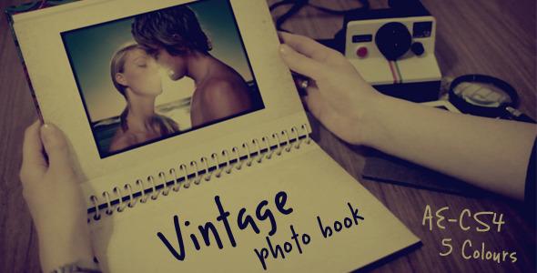 Vintage photo book
