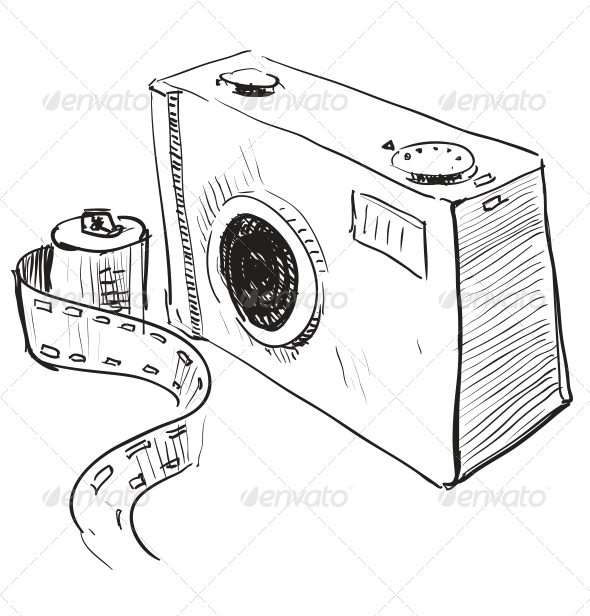GraphicRiver Analogue Photo Camera Icon 5155610