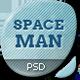 Spaceman - Origami PSD malli - Portfolio Creative