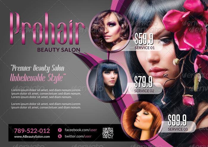 Modern Beauty Salon - Flyer Template by katzeline | GraphicRiver