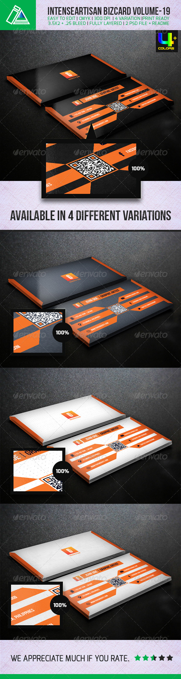 GraphicRiver IntenseArtisan Creative Business Card Vol-19 5155703