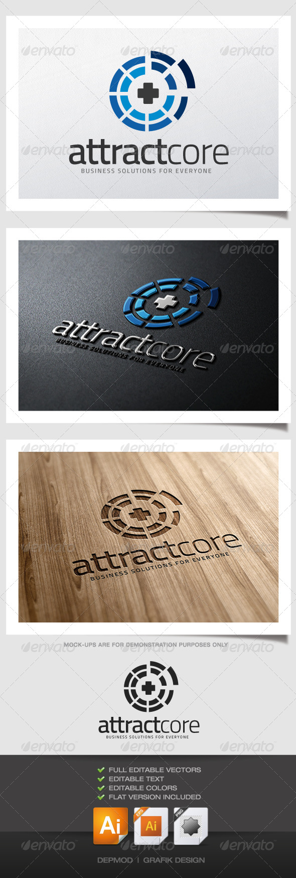 Attract Core Logo - Abstract Logo Templates