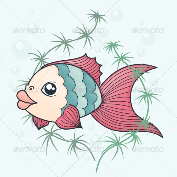 GraphicRiver Fish in Cartoon Style 5156183