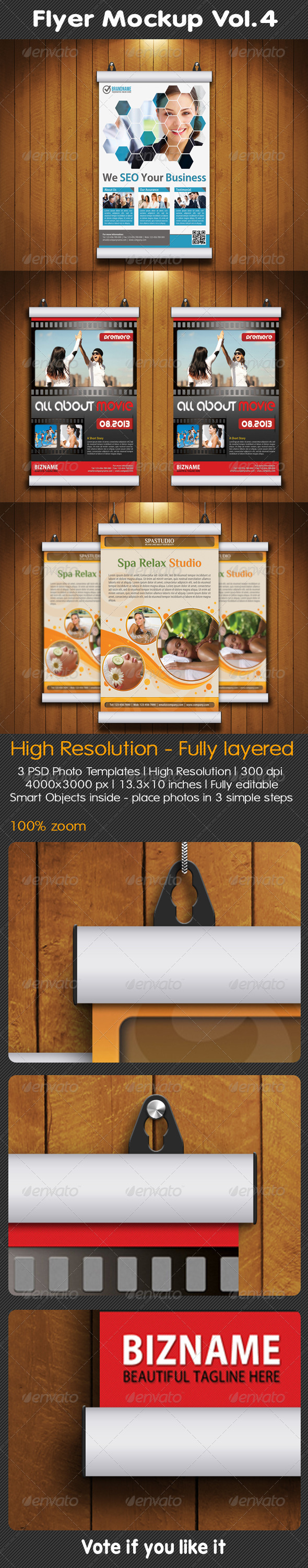 GraphicRiver Flyer Mockup Vol.4 5156457