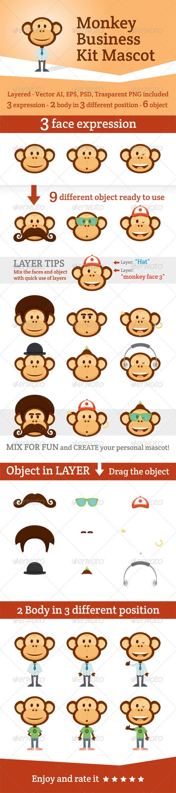 GraphicRiver Monkey Business Kit Mascot 5147791