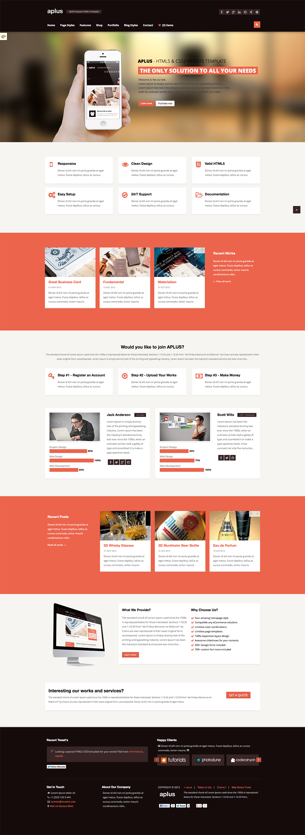 APLUS - Multi Purpose HTML5 Website Template