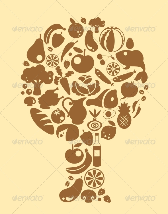 GraphicRiver Food Tree 5157152
