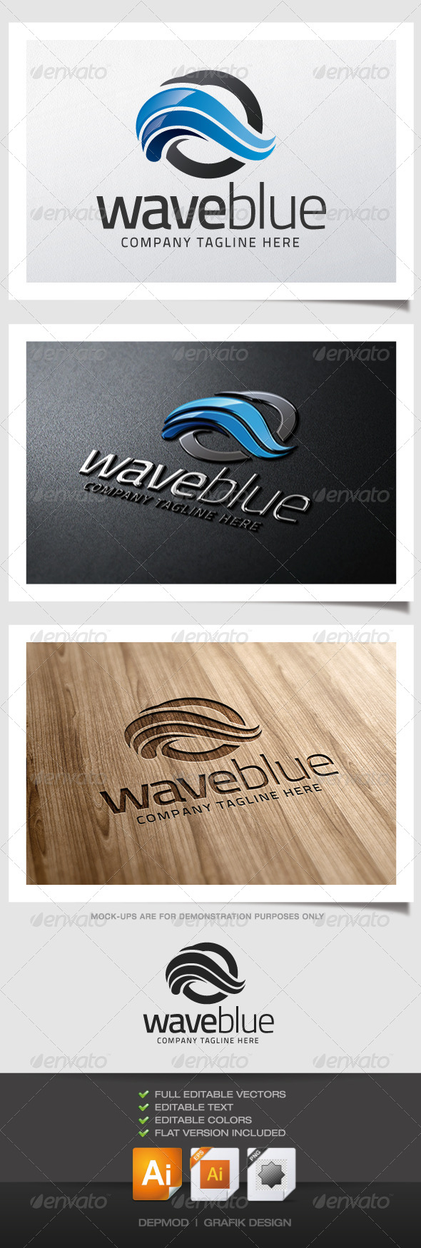 GraphicRiver Wave Blue Logo 5157187