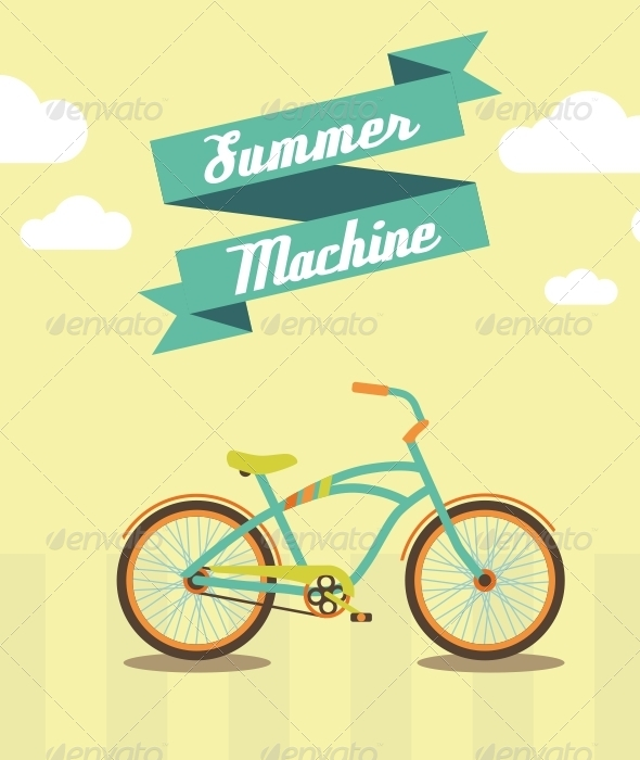 GraphicRiver Bicycle the Best Summer Machine 5157255