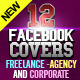 12 Facebook Covers - Freelance, Agency & Corporate - GraphicRiver Item for Sale