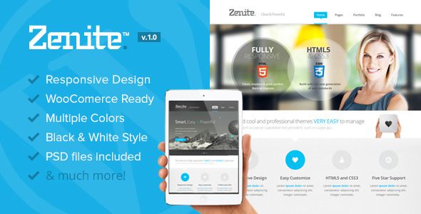 Zenite - Responsive Multi-Purpose WordPress Theme