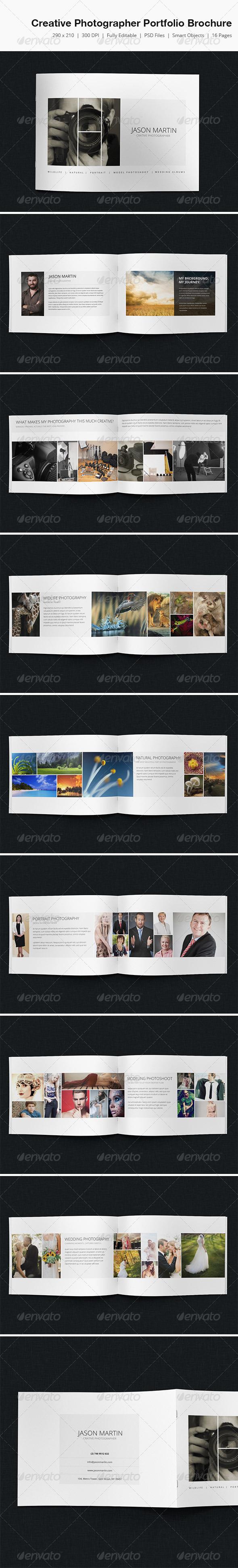 GraphicRiver Creative Photographer Portfolio Brochure 5092284