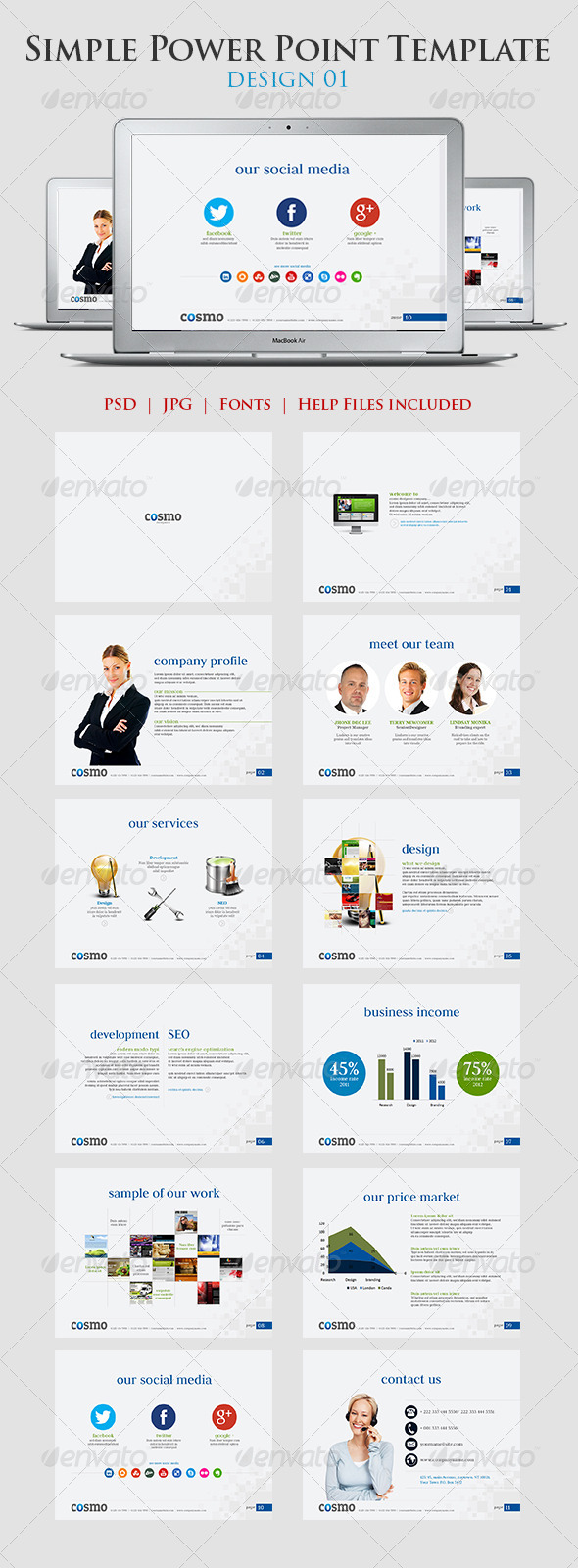Simple Power point Template Design 01 - Presentation Templates