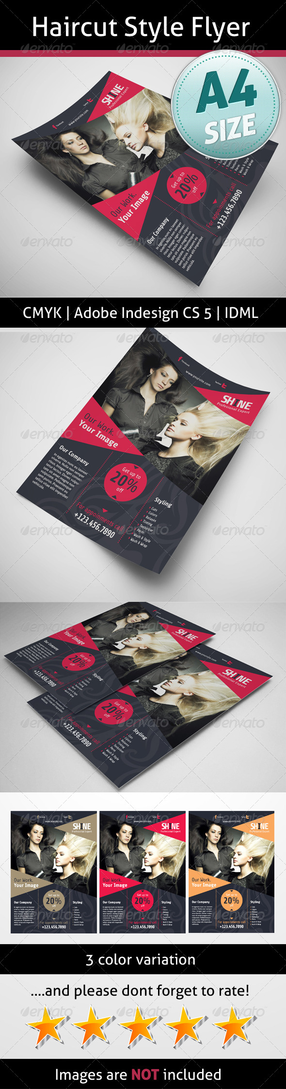 GraphicRiver Haircut Style Flyer 5159409