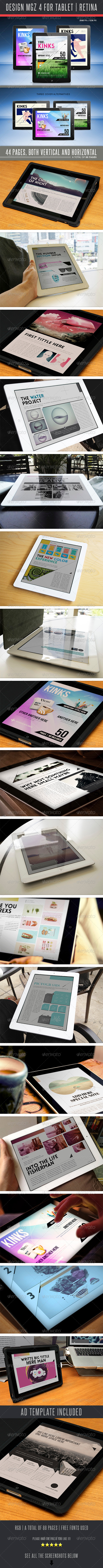 GraphicRiver Design MGZ 4 For Tablet 5039013