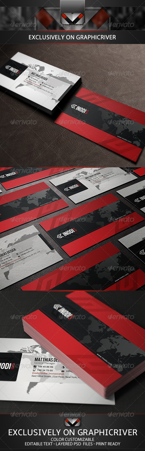 GraphicRiver Red Business Card 5159670