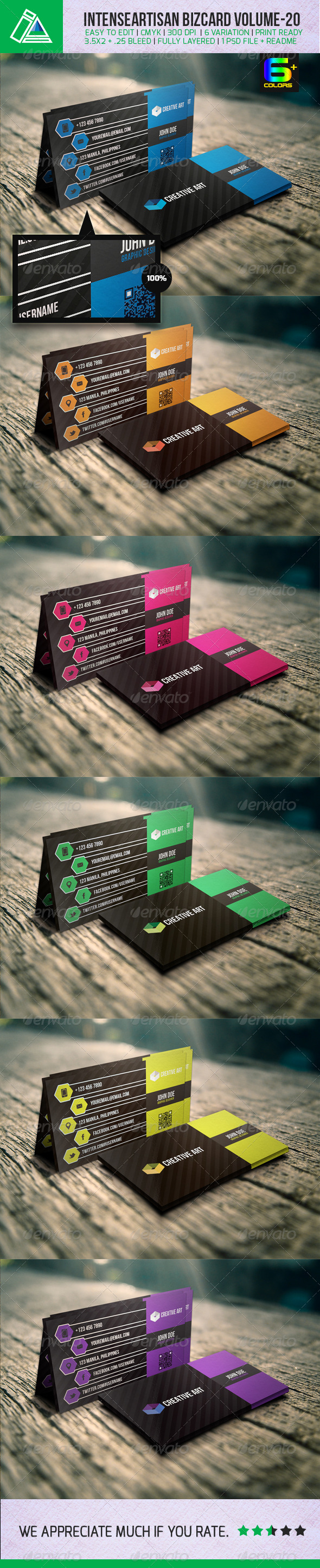 GraphicRiver IntenseArtisan Creative Business Card Vol-20 5159748