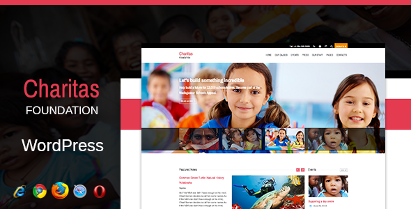 Charitas / Foundation WordPress Theme - Charity Nonprofit