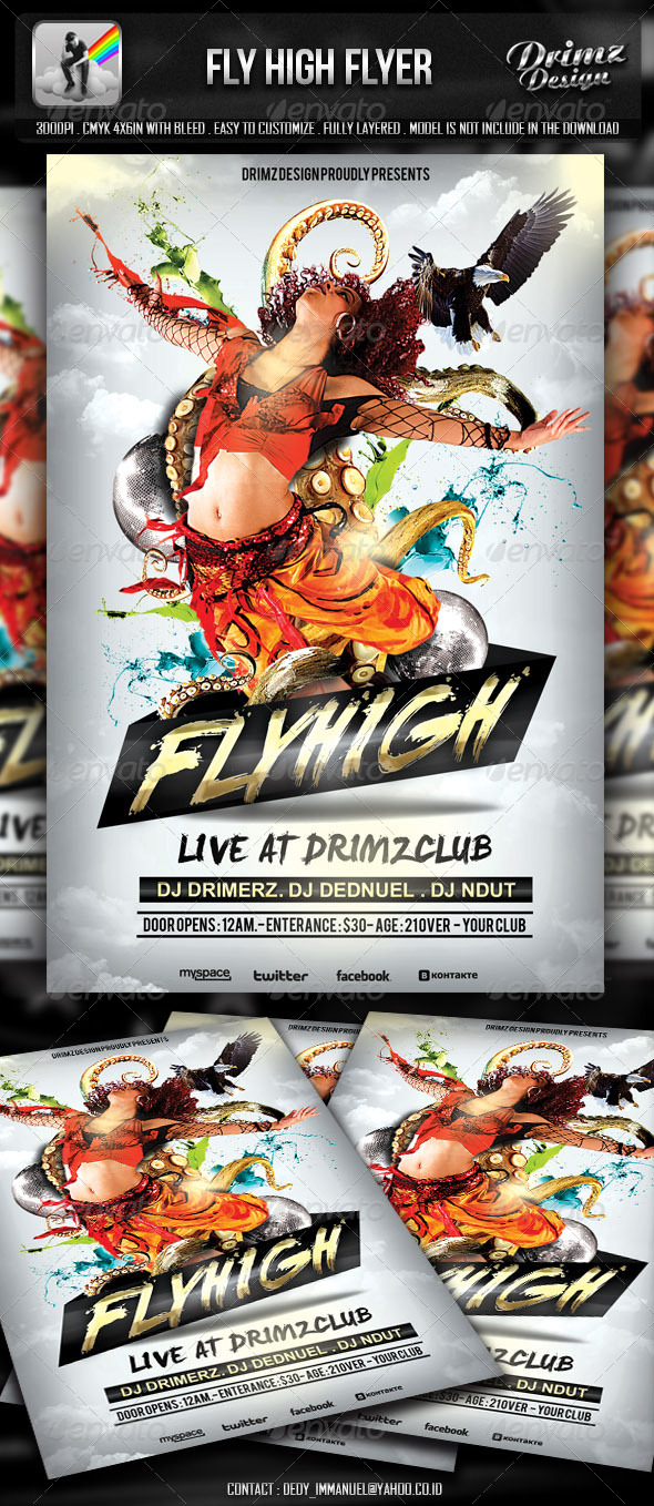 GraphicRiver Fly High Flyer 5160094