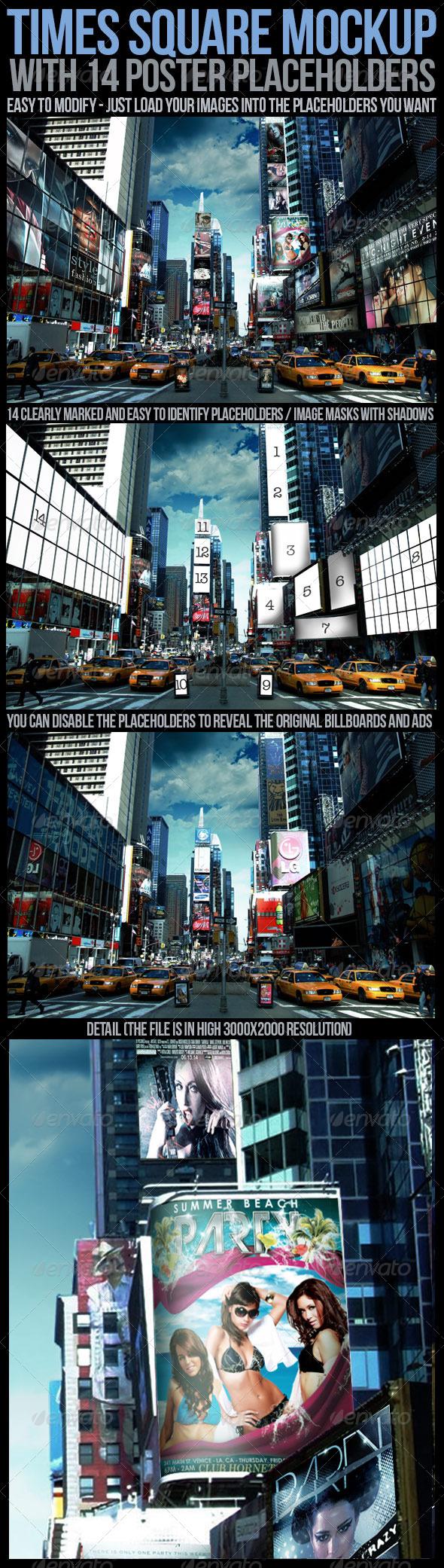 GraphicRiver Times Square Mockup 5135889