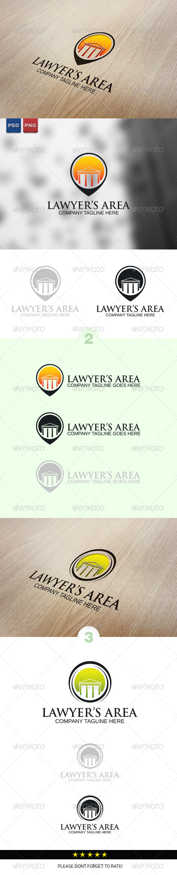 Lawyer's Area Logo Template - Buildings Logo Templates