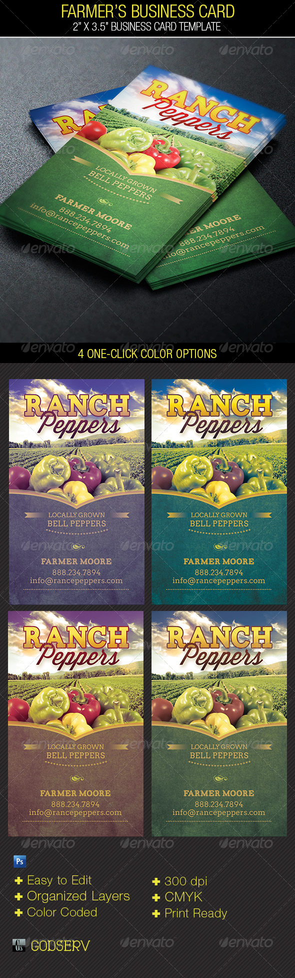 GraphicRiver Farmers Business Card Template 5160249