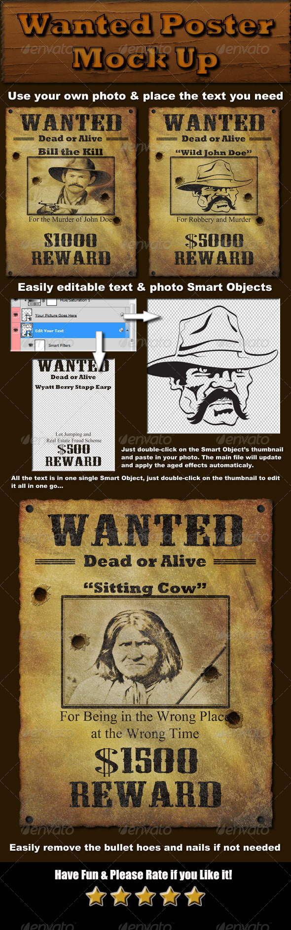 GraphicRiver Wanted Poster Mock Up 5135965