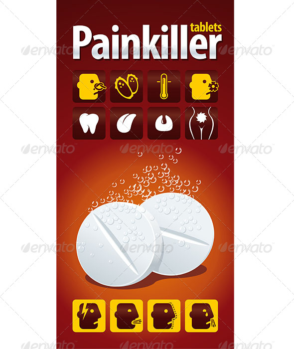 GraphicRiver Painkiller Tablets 5161150