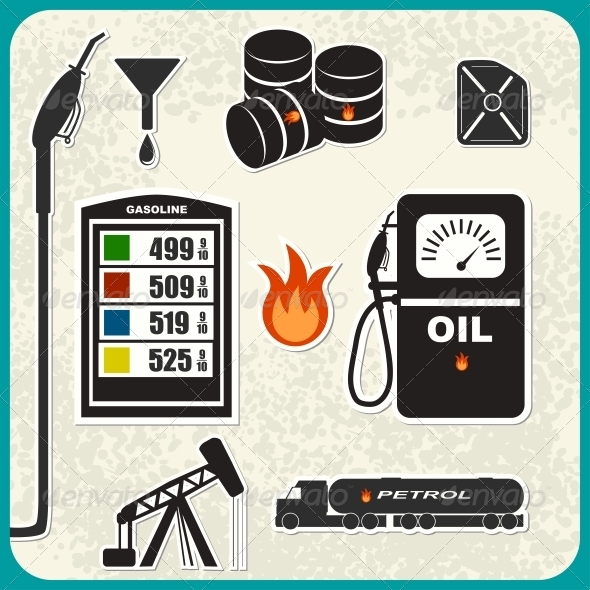 GraphicRiver Set of Oil Icons 5161766