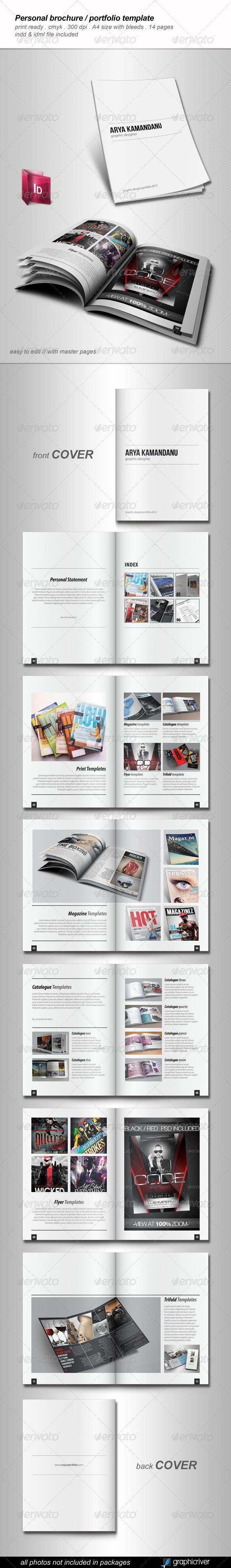 Personal Brochure / Portfolio Template - Portfolio Brochures