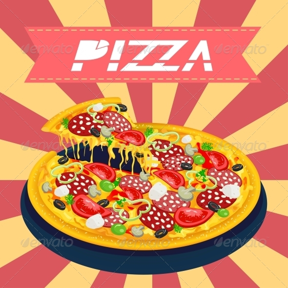 GraphicRiver Tasty Pizza Retro 5161827