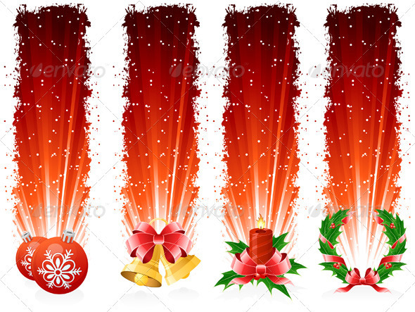 Grunge Christmas Banner