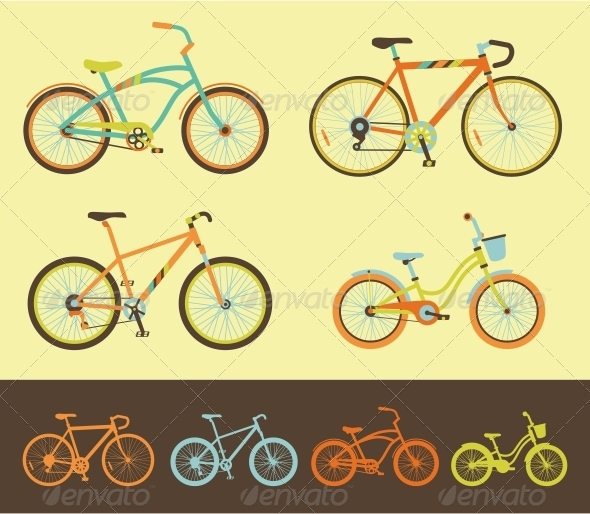 GraphicRiver Set of Bicycles 5161862