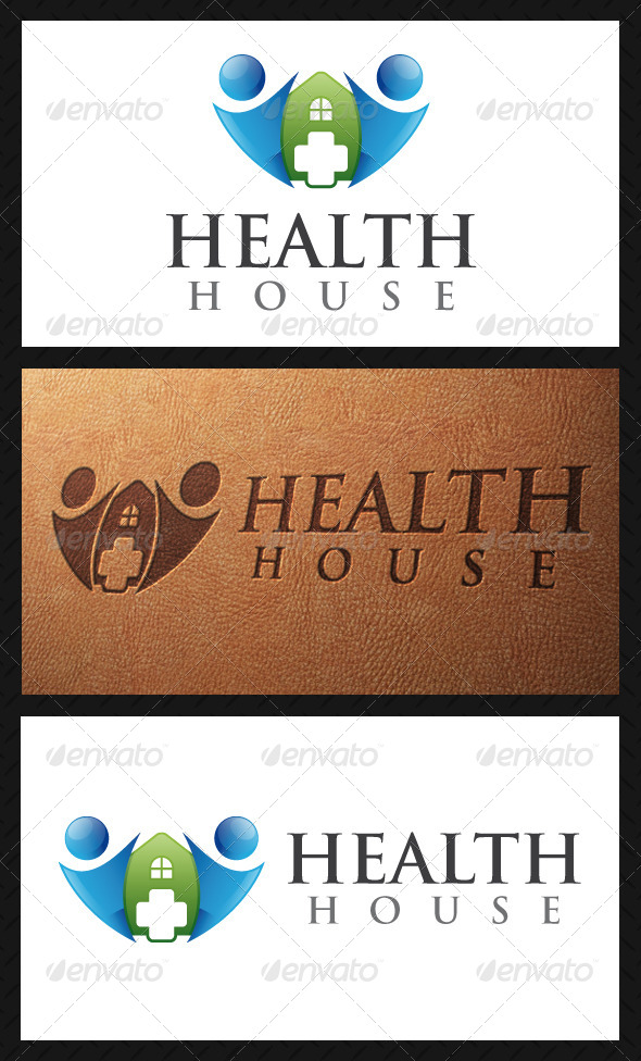 Health House Logo Template