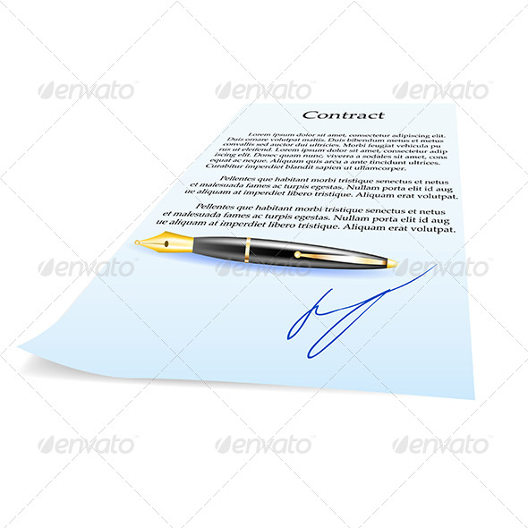 GraphicRiver Business Contract and Pen 5162469