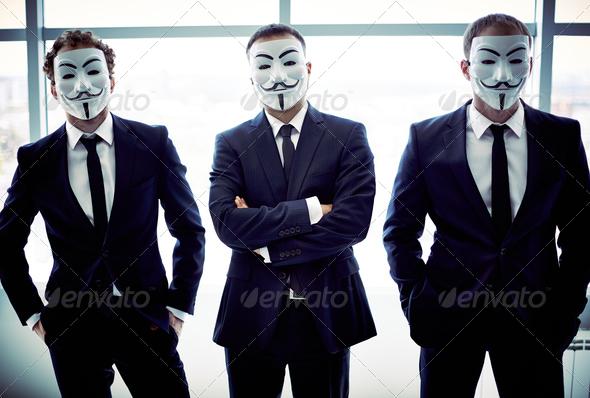 Anonymous trio - Stock Photo - Images