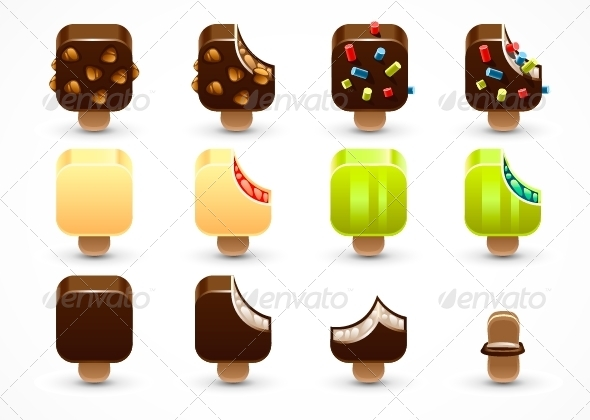 GraphicRiver Set of Icecream 5162715