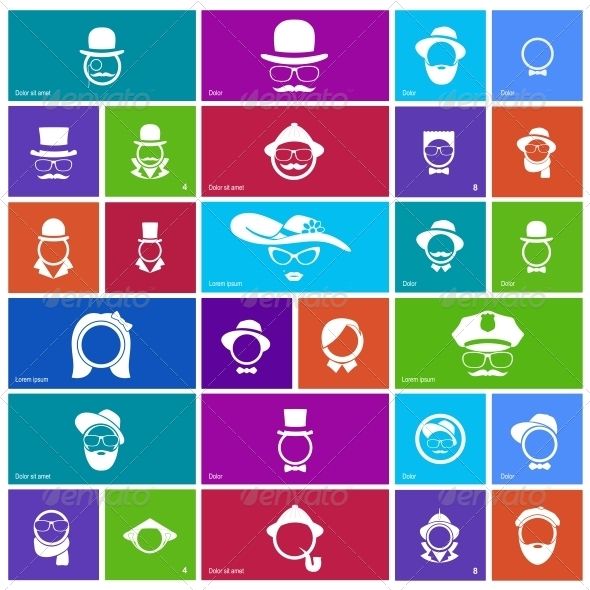 GraphicRiver Set of 27 Faces 5162743