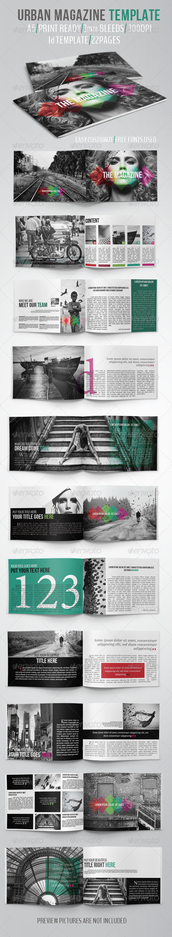 GraphicRiver Urban Magazine Template 5162870