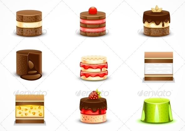 GraphicRiver Cake Set 5162869