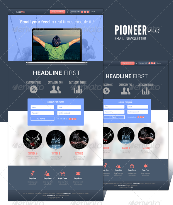 GraphicRiver Pioneer Pro Email Newsletter 5162890