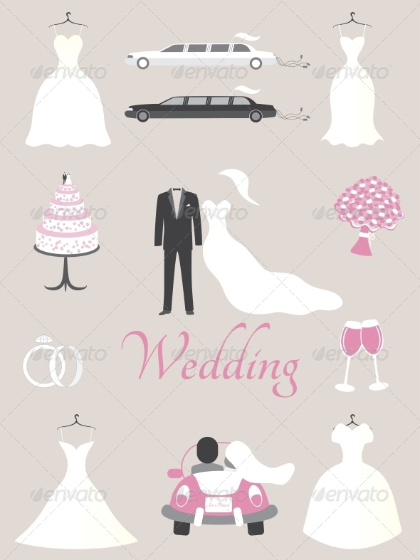 GraphicRiver Wedding Elements 5162909