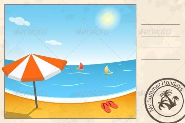 GraphicRiver Summer Postcard 5163056