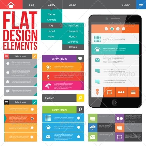 GraphicRiver Flat Web Design 5163189