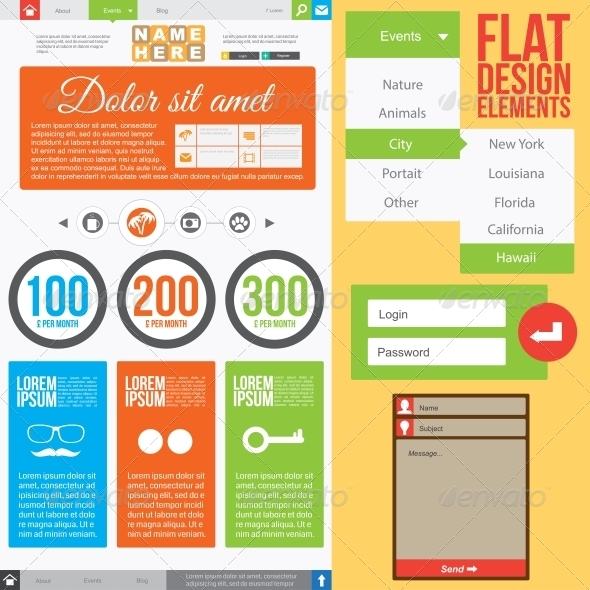 GraphicRiver Flat Web Design 5163193