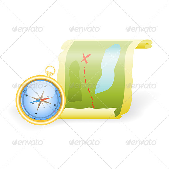 GraphicRiver Compass and Map 5163194